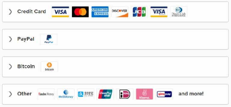 ExpressVPN支付方式,点击图片直接查看