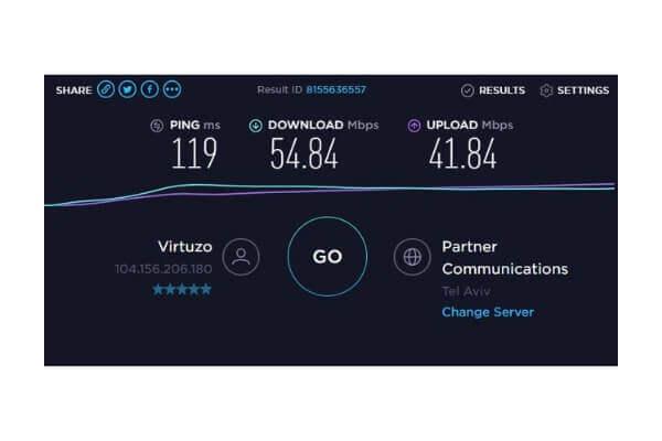 图片:熊猫VPN的德国速度测试