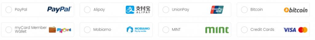 图片:熊猫VPN支付选项